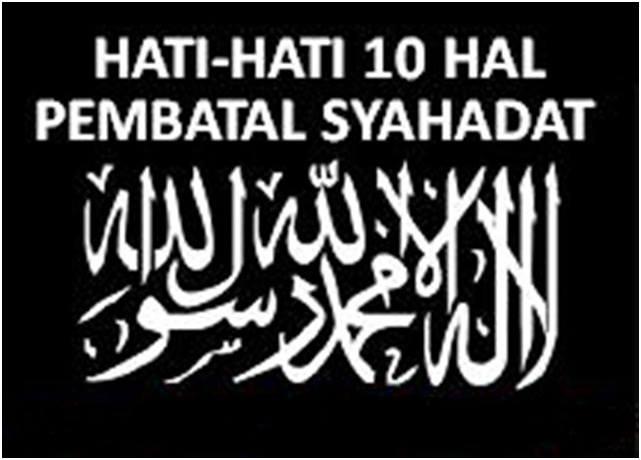 10 batal syahadat