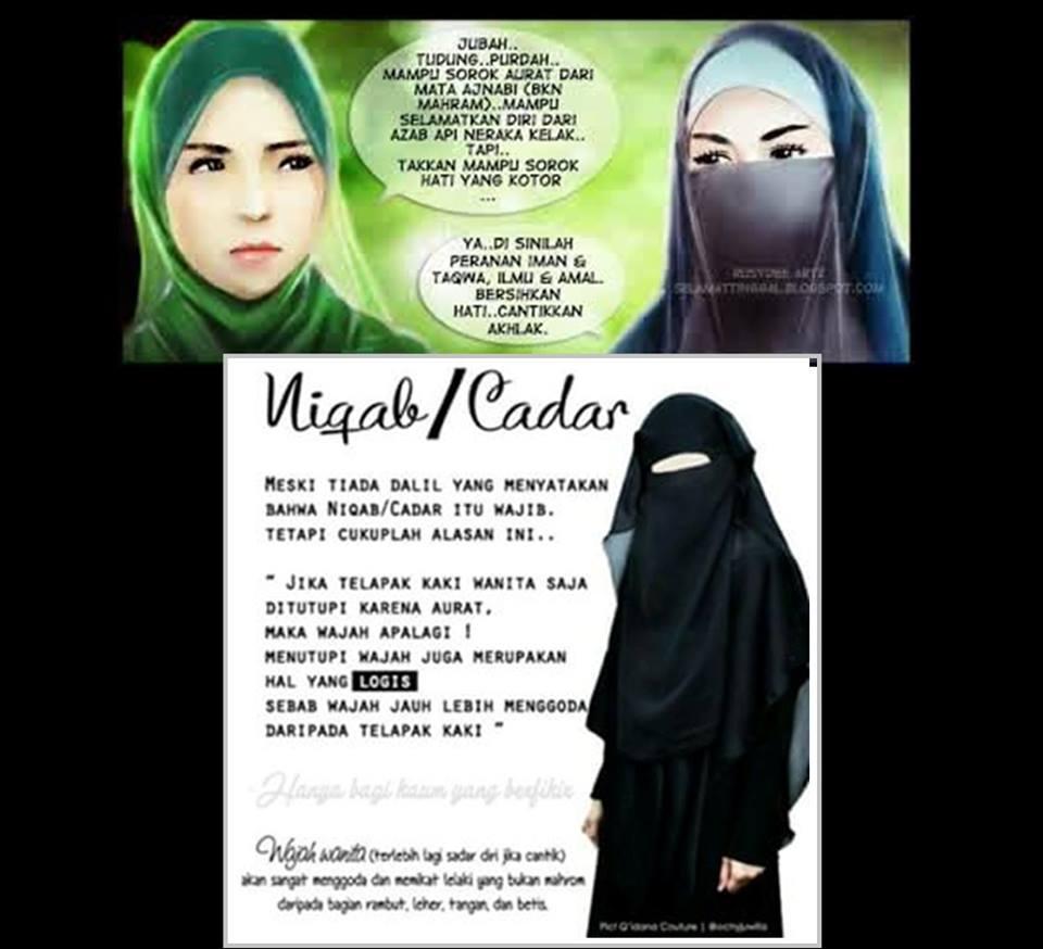 niqab jilbab mana