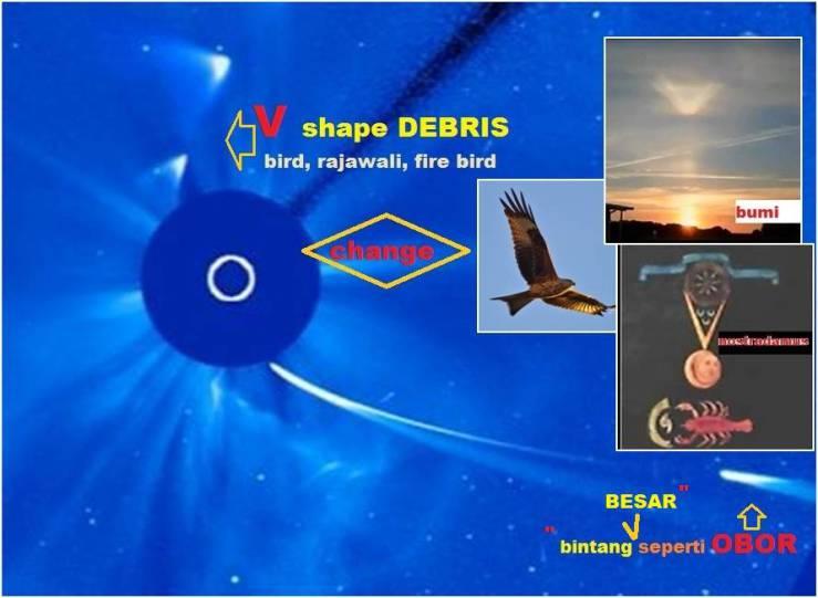 debris giant comet h