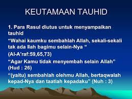 utama tauhid oleh nabi