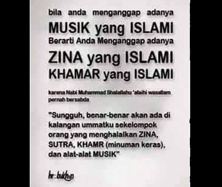 musik islami haram teks