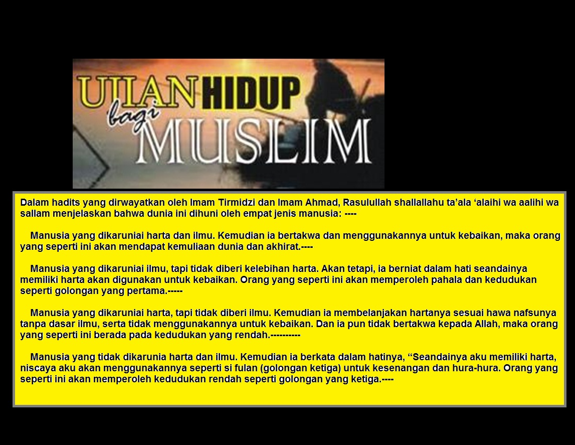 ujian hidup muslim